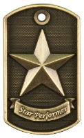 Star Performer 3-D Dog Tag