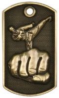 Karate 3-D Dog Tag