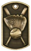 Softball 3-D Dog Tag
