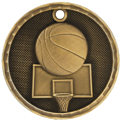 Basketball 3-D Medal