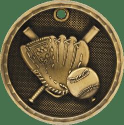 Softball 3-D Medal