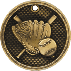 Softball 3-D Medal