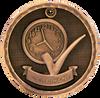 Perfect Attendance 3-D Medal