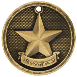 Star Performer 3-D Medal