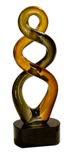Premier Brown Twist Art Glass