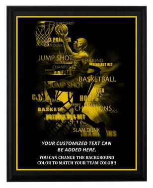 Basketball Plaque
