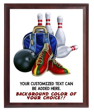 Bowling Plaque