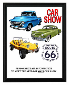 Route 66 Car Show Plaque