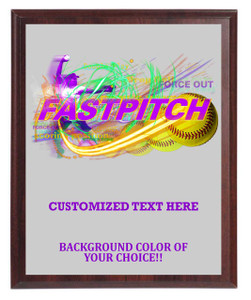 Fastpicth Softball Plaque