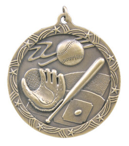 Baseball Shooting Star Medal