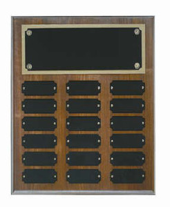 Genuine walnut 10x13 plaque 18 1x 2 1/2 plates