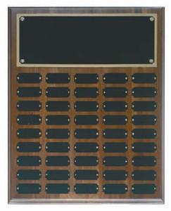 Genuine walnut 16x20 plaque 45 1 x 2 1/2 plates