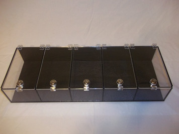 5 Section Show Display with Keyed Locks