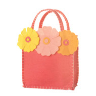 Fuschia Bag with  3 Flowers