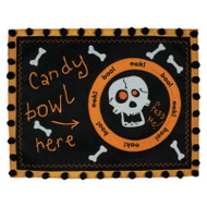 """Feed Me"" Skull Candy Bowl Placemat"