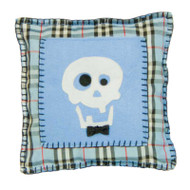 Blue Skull Tooth Fairy Pillow