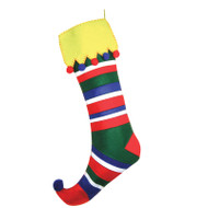XL Striped Christmas Stocking