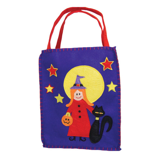 Sweet Witch Trick or Treat Bag Durable and strong for loads of loot 8x10 100% poly felt  ! WARNING: CHOKING HAZARD – Small parts. Not for children under 3 years.