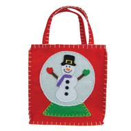 Snowman Snow Globe Gift Bag