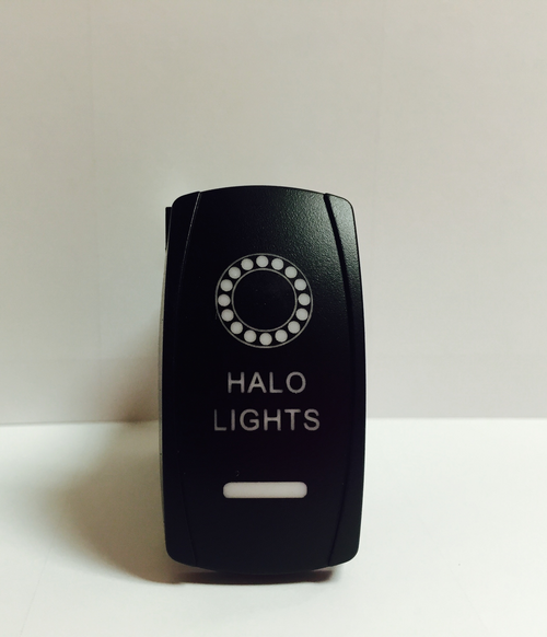 LED backlit Halo Rocker Switch