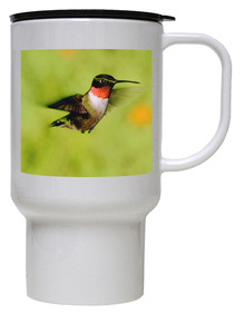 Hummingbird Polymer Plastic Travel Mug