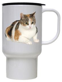 Calico Cat Polymer Plastic Travel Mug
