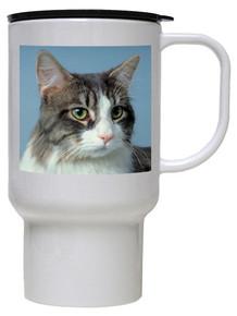 Cat Polymer Plastic Travel Mug