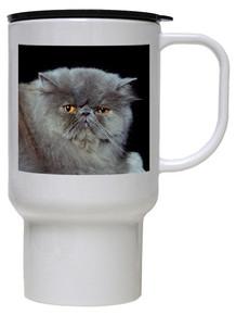 Persian Cat Polymer Plastic Travel Mug