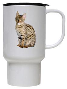 Savannah Cat Polymer Plastic Travel Mug