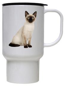 Siamese Cat Polymer Plastic Travel Mug