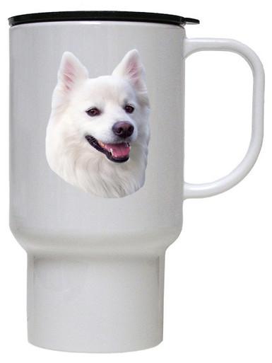 American Eskimo Dog Polymer Plastic Travel Mug
