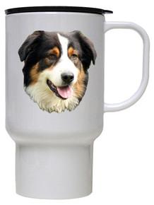 Australian Shepherd Polymer Plastic Travel Mug