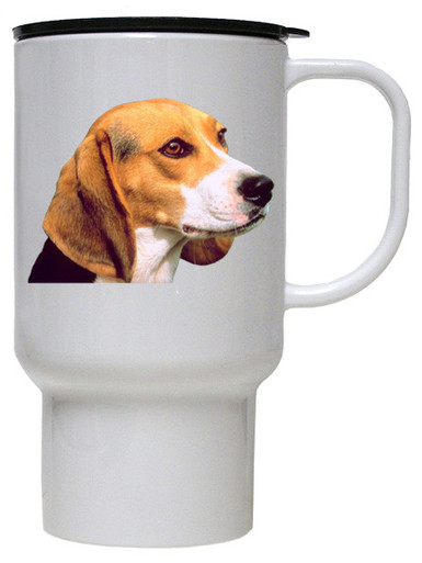 Beagle Polymer Plastic Travel Mug