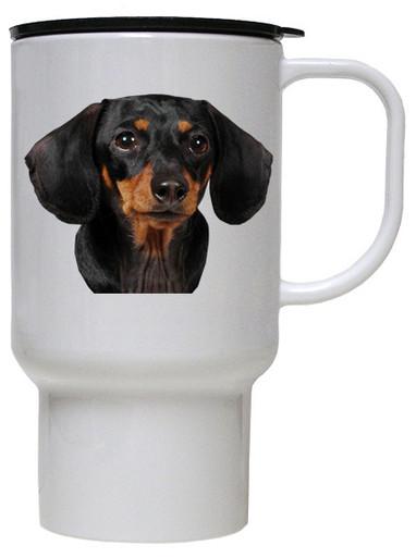 Dachshund Polymer Plastic Travel Mug