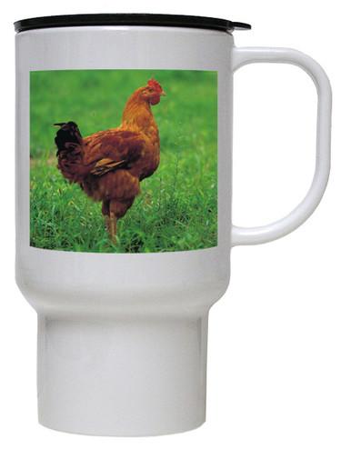 Chicken Polymer Plastic Travel Mug