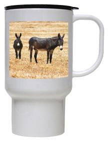 Donkey Polymer Plastic Travel Mug