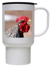 Rooster Polymer Plastic Travel Mug