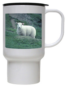 Sheep Polymer Plastic Travel Mug