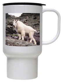 Mountain Goat Polymer Plastic Travel Mug