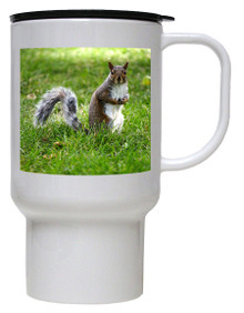 Squirrel Polymer Plastic Travel Mug