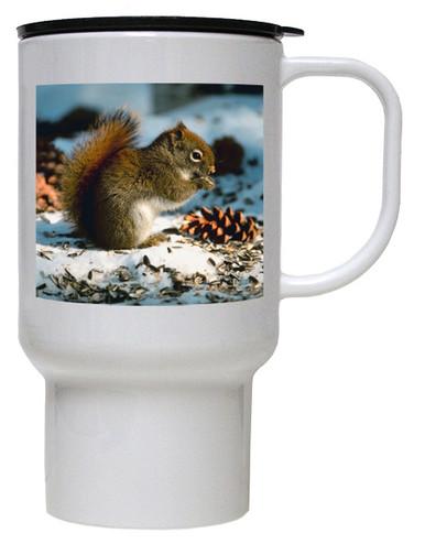 Squirrel Polymer Plastic Travel Mug