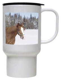 Horse Polymer Plastic Travel Mug
