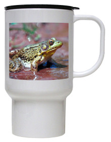 Green Frog Polymer Plastic Travel Mug