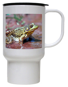 Green Frog Polymer Plastic Travel Mug