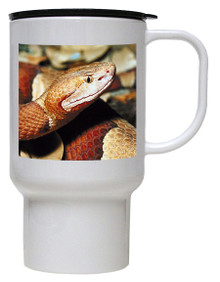 Copperhead Snake Polymer Plastic Travel Mug
