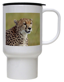 Cheetah Polymer Plastic Travel Mug