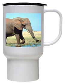Elephant Polymer Plastic Travel Mug
