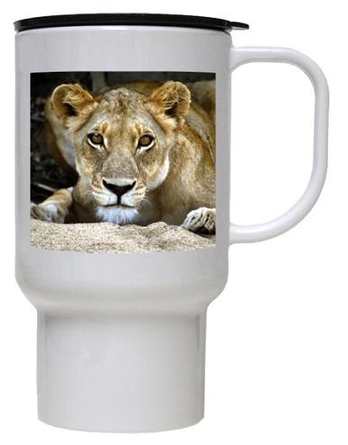 Lion Polymer Plastic Travel Mug