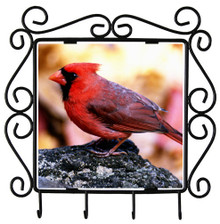 Cardinal Metal Key Holder