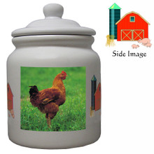 Chicken Ceramic Color Cookie Jar
